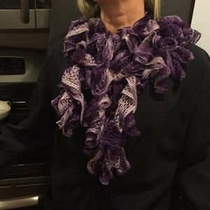Accessories - 2 for $15,  NWOT Handmade shades of purples scarf.